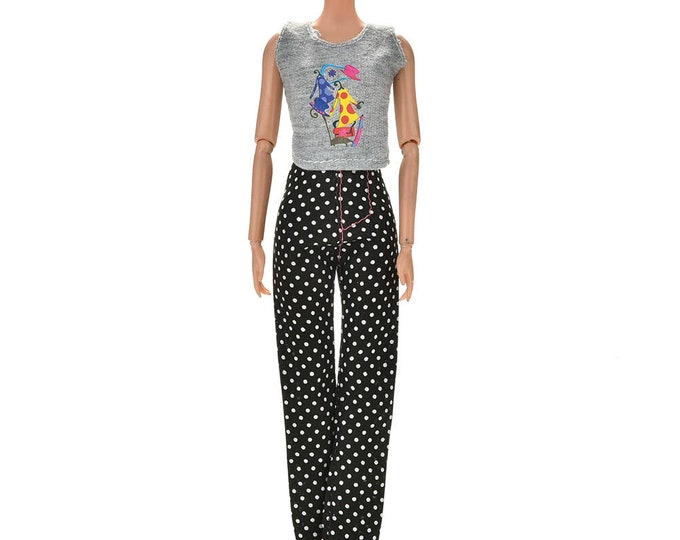 Barbie Doll Pants Top and Shoes