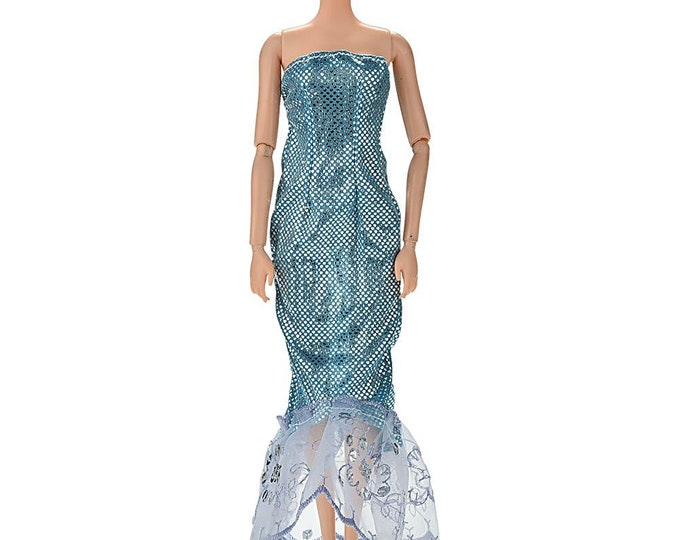 Barbie Mermaid Style Gowen with Matching Shoes