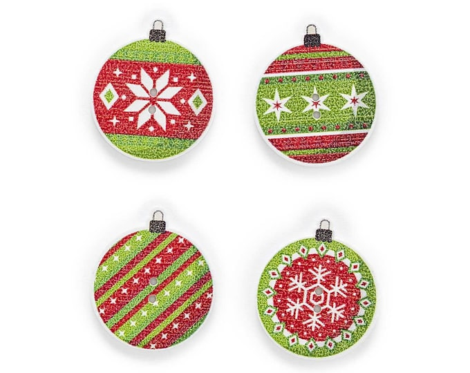 Christmas Ball Buttons  set 10 / Y