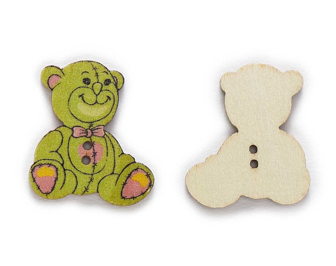 Teddy Bear Buttons set of 10  /  PP
