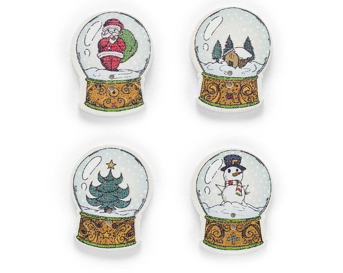 Snow Globs Buttons set of 10   M