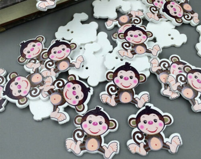 Monkey Buttons set of 10  /  44