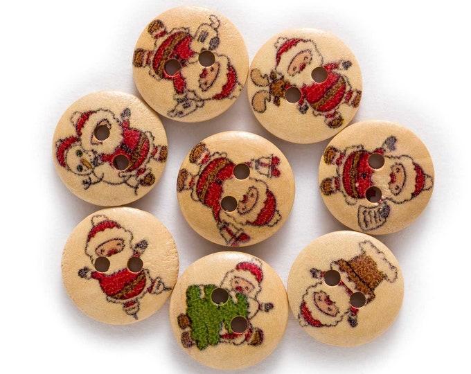 Buttons Santa and more Santa's set of 10 / T