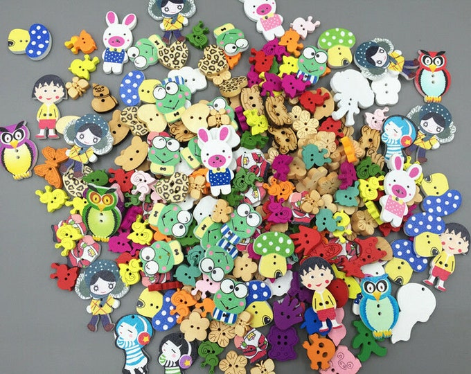 Buttons Assorted Sizes and Shapes  set of 10  / 114