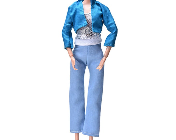 Barbie Doll 3 Piece Pant Set and Shoes