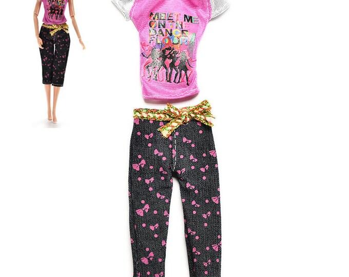 Barbie Fashion  Doll 2 Piece Capri Set and Shoes