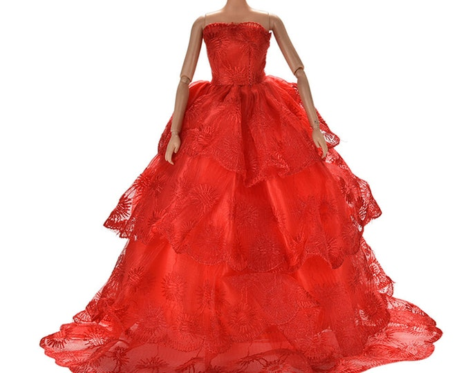 Barbie Hot Hot Pink Gown with Matching Shoes.