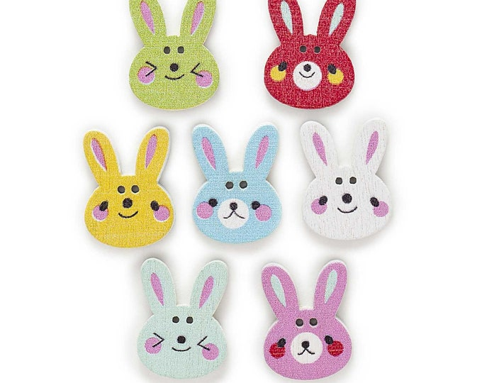 Bunny Buttons  set of 10 /XX