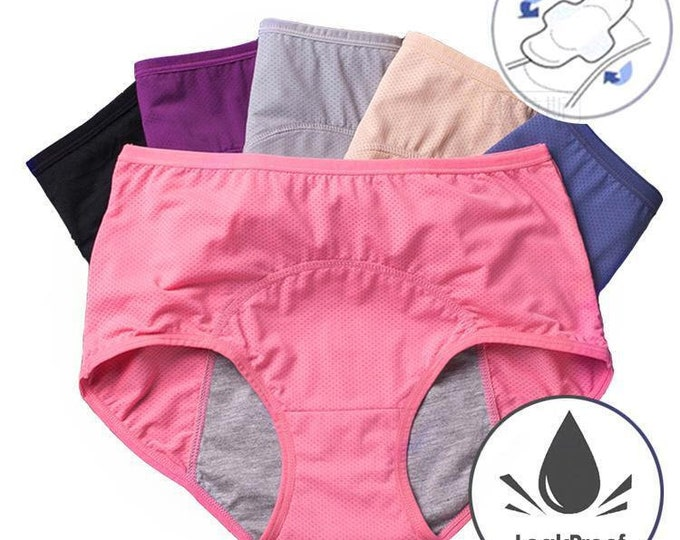 Menstrual  Incontinent Protective Panties Underwear 3 Pair New 3X