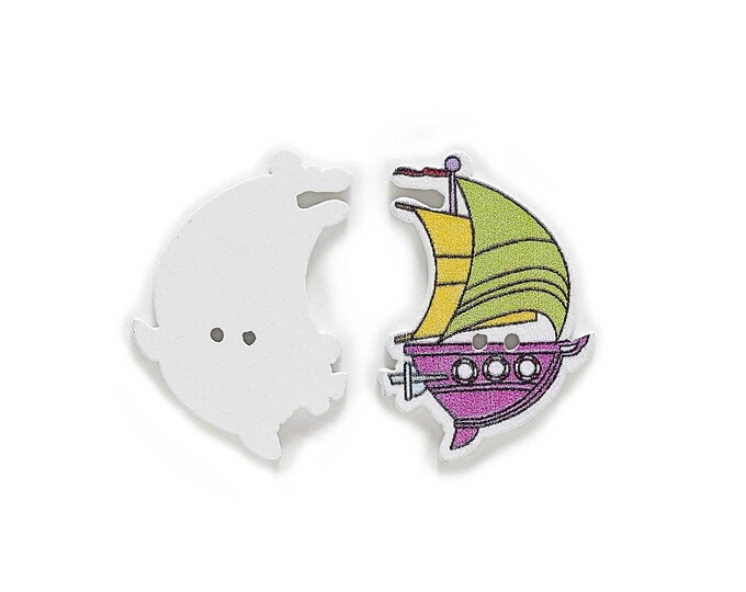 Sailing Ships with Sails Buttons   set 10  / 12