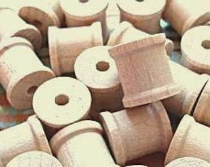 Miniature Wood Spools set of 5