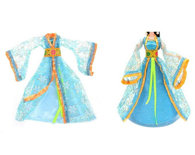 Barbie Doll Traditional Asian Outfit and Shoes