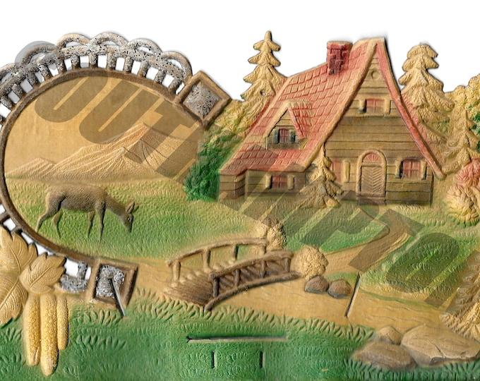 Printable Digital Download - Vintage Die Cut House