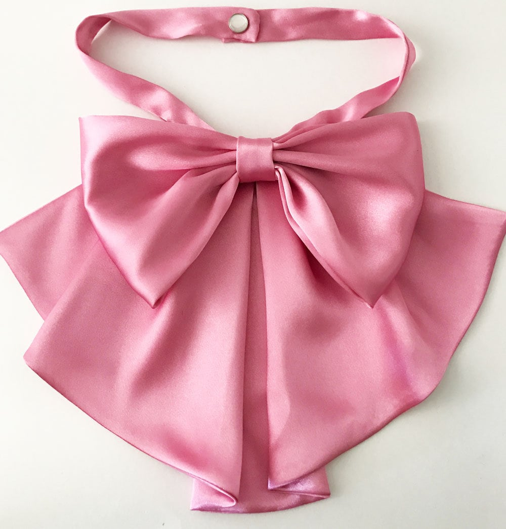 d86c466fb56578 Pussy bow Gucci inspired satin bow scarf pink satin bow | Etsy