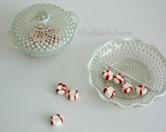 Hobnail Moonstone Glass Dish and Jar