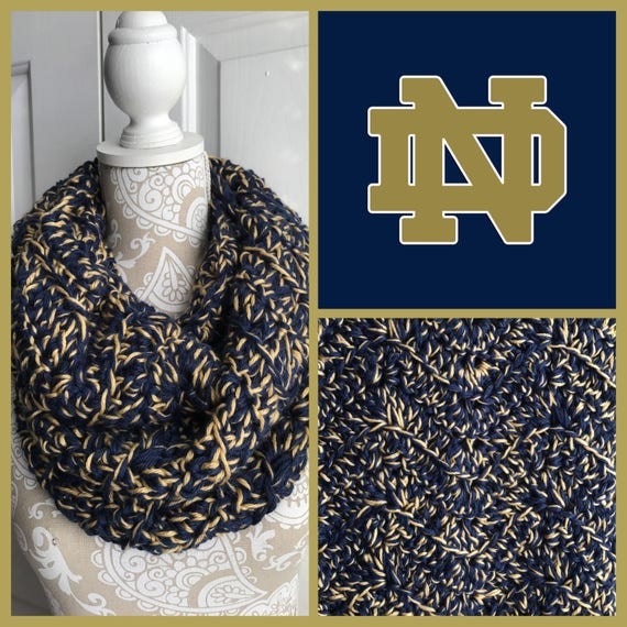 3d2aae74b22 Notre Dame Themed Infinity Scarf