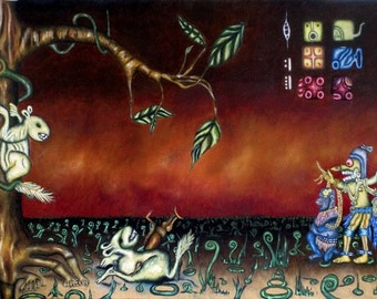 A Sequence of Events Leads us to this Place, Original Oil Painting