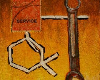 Service, Original Mixed Media Painting