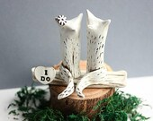 Clay Fox - Wedding Cake Topper Fox - Clay Foxes - Animal Cake Topper - Rustic Wedding Cake Topper - Fox Cake Topper - Anniversary gift