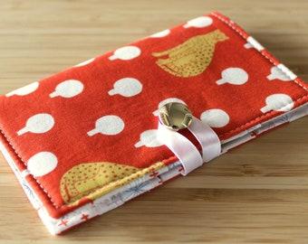 Tea Wallet - Red Cheetah - around town, sarah golden, tea lover, tea bag, teatime, modern, hot tea, travel, gift
