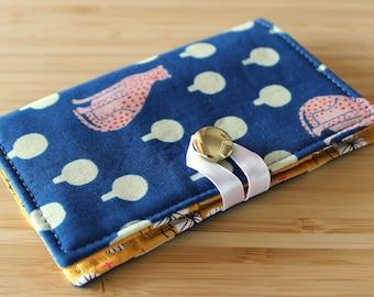 Tea Wallet - Blue Cheetah - around town, sarah golden, tea lover, tea bag, teatime, modern, hot tea, travel, gift