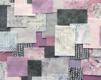 Patchwork Sashiko Kit - Lavender Twilight - 8 x 11, craft kit, sewing, kit, embroidery, kantha, boro, hand stitch, japanese