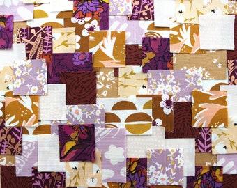 Patchwork Sashiko Kit - Warm Gingersnaps - Choose from 3 sizes, craft kit, sewing, kit, diy, embroidery, kantha, boro, hand stitch, japanese