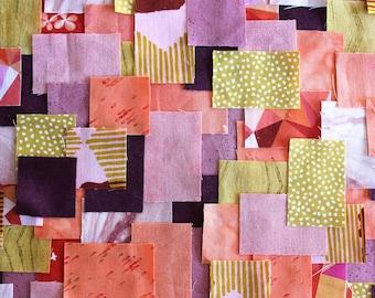 Patchwork Sashiko Kit - Summer Sorbet - Choose from 3 sizes, orange, purple, craft kit, sewing, kit, diy, embroidery, boro, hand stitch