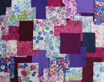 Patchwork Sashiko Kit - Summer Berries - Choose from 3 sizes, craft kit, sewing, kit, diy, embroidery, kantha, boro, hand stitch, japanese