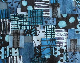 Patchwork Sashiko Kit - Dreams of Indigo - Choose from 3 sizes, blue, craft kit, sewing, kit, diy, embroidery, kantha, boro, hand stitch