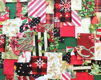 Patchwork Sashiko Kit - 'Tis the Season - Choose from 3 sizes, craft kit, sewing, kit, embroidery, kantha, boro, hand stitch, japanese