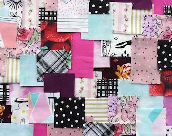 "Patchwork Sashiko Kit - 5""x7"" - Signature 001 - craft kit, sewing, kit, embroidery, kantha, boro, hand stitch, fabric, quilting, japanese"