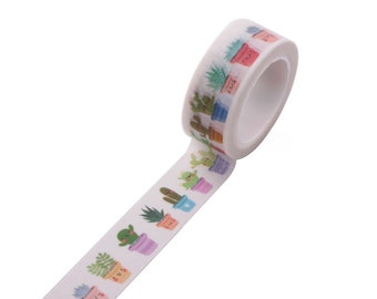 5m roll Illustrated Cactus Washi Tape