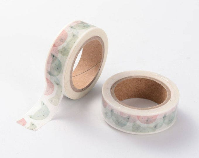 10m roll Watercolour Cat Washi Tape 15mm wide, adhesive crafts tape, pastel colours for decoration & packaging