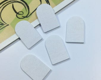 5 or 25 bulk Tiny Wooden Doors 23x14mm mini fairy doors / shaped wood embellishments for crafts