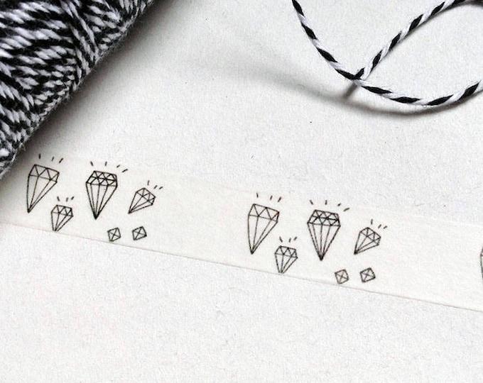 10m roll Geometric Diamond Washi Tape 15mm wide, illustrated diamonds design adhesive crafts tape