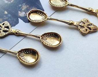 Bulk Lot 100 Antique Goldtone Large Tea Spoon Charms 58x15mm wholesale Tea Party / Wedding favours / Fairytale / Ibiza pendants #123