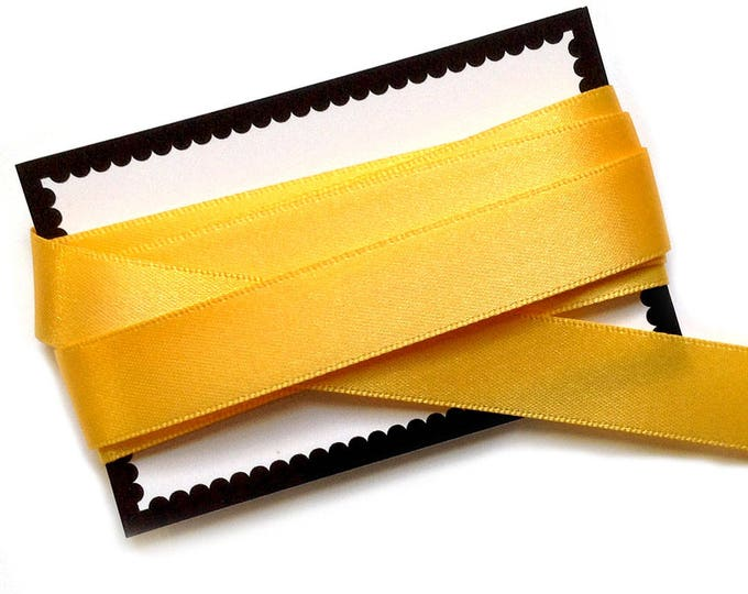 15mm Yellow Satin Ribbon x 2m