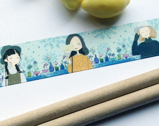 6m roll Japanese Cartoon Tape 20mm wide adhesive crafts tape for stationery, journals, scrapbooking