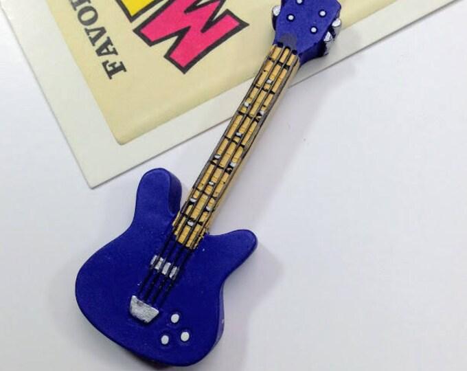 Vintage Blue Fender Electric Guitar Pendant 72x26mm