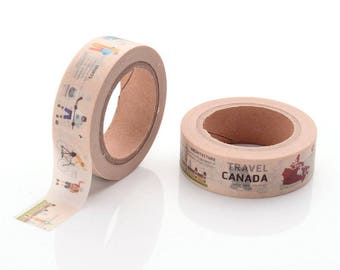 10m roll Canada Washi Tape