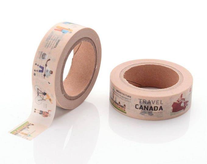 10m roll Canada Washi Tape