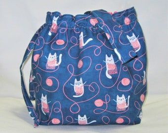Small Box Bottom Knitting Project Bag
