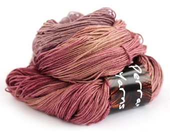 4ply Tranquil silk baby camel blend luxury yarn handdyed in shade Blackcurrant Sorbet