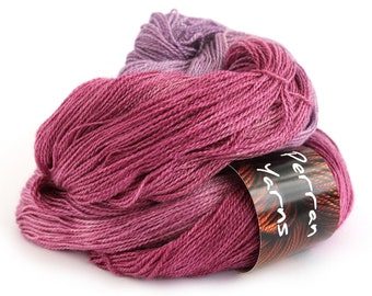 Lace Decadence BFL silk heavy laceweight yarn handdyed in shade Blackcurrant Sorbet