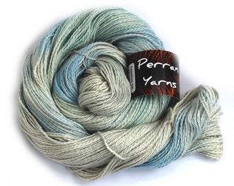 Egyptian DK baby alpaca linen silk blend yarn handdyed in shade Chill