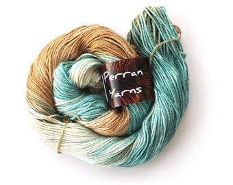 Silky Smooth DK merino silk blend wool handdyed in colourway Sandy Toes