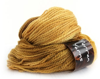 100g Aran BFL wool handdyed in shade Golden Fields