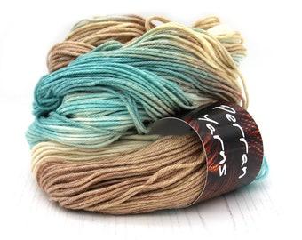 DK Wool Cotton yarn handdyed in colourway Sandy Toes
