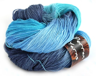 British BFL Silk blend Decadence Lace handdyed in shade Ocean Blue